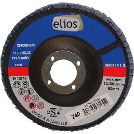 DISQUE A LAMELLES 115X1 GR40 ZIRCO. X10 ELIOS