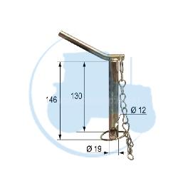 CHEVILLE diamètre 19 mm longueur 130 mm pour tracteurs Divers