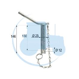 CHEVILLE diamètre 25 mm longueur 130 mmpour tracteurs Divers