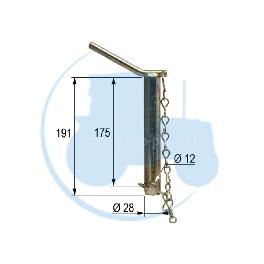 CHEVILLE diamètre 28 longueur 175 mm pour tracteurs Divers