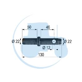 PITON A SOUDER diamètre 22 mm pour tracteurs Divers