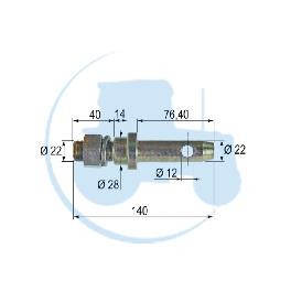 PITON A VISSER diamètre 22 mm pour tracteurs Divers
