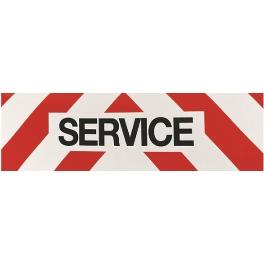 PANNEAU SERVICE REFLECHISSANT 50x15 ADHESIF