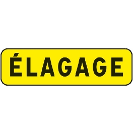 PANNEAU INDICATION 700X200 T1 ELAGAGE