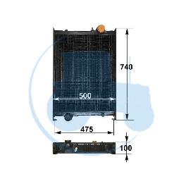 RADIATEUR pour tracteurs FENDT