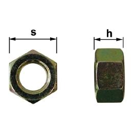 ECROU DIAMETRE 22 MM CL8.8 BICHRO (BTE 10)