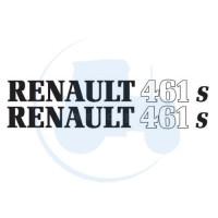 JEU DE 2 AUTOCOLLANTS pour tracteur RENAULT 461 S