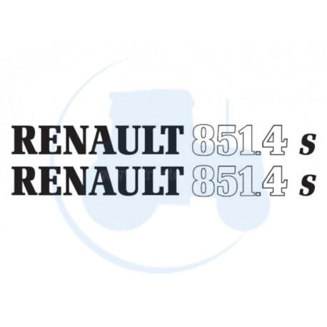 JEU DE 2 AUTOCOLLANTS pour tracteur RENAULT 851-4 S