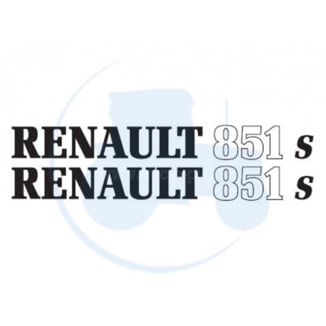 JEU DE 2 AUTOCOLLANTS pour tracteur RENAULT 851 S
