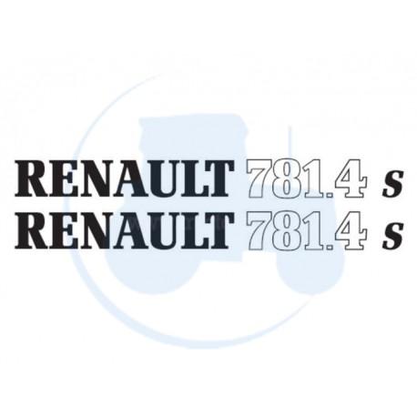 JEU DE 2 AUTOCOLLANTS pour tracteur RENAULT 781-4 S