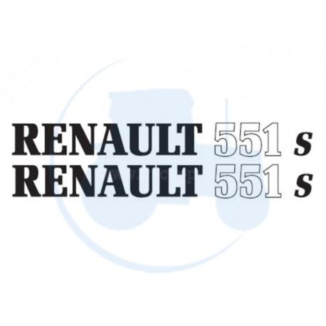 JEU DE 2 AUTOCOLLANTS pour tracteur RENAULT 551 S