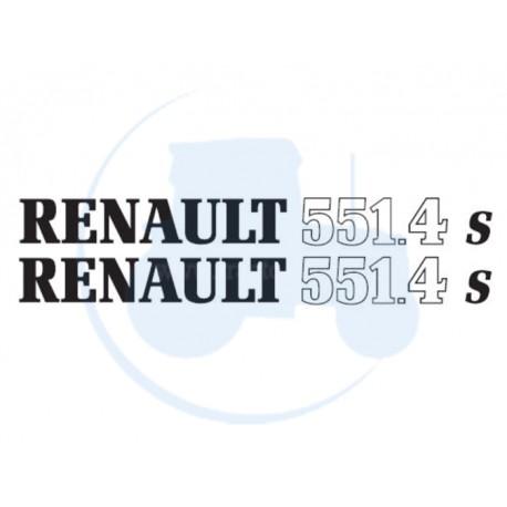 JEU DE 2 AUTOCOLLANTS pour tracteur RENAULT 551-4 S