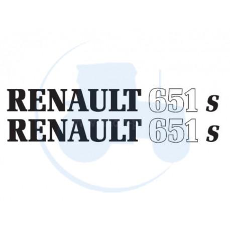 JEU DE 2 AUTOCOLLANTS pour tracteur RENAULT 651 S