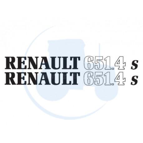 JEU DE 2 AUTOCOLLANTS pour tracteur RENAULT 651-4 S