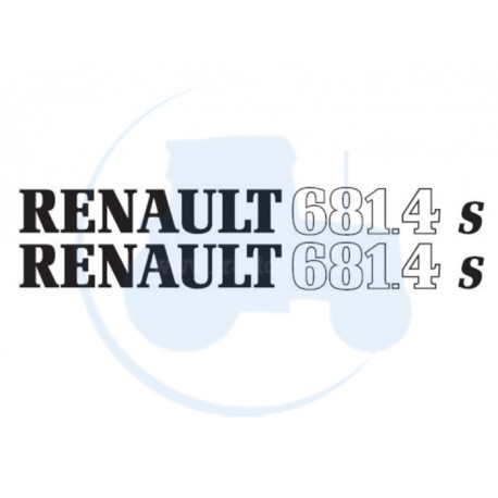 JEU DE 2 AUTOCOLLANTS pour tracteur RENAULT 681-4 S