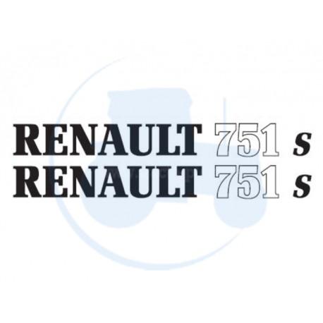 JEU DE 2 AUTOCOLLANTS pour tracteur RENAULT 751 S