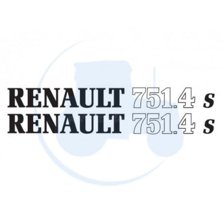 JEU DE 2 AUTOCOLLANTS pour tracteur RENAULT 751-4 S