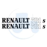 JEU DE 2 AUTOCOLLANTS pour tracteur RENAULT 781 S