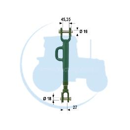 STABILISATEUR TELESCOPIQUE Complet pour tracteurs JOHN DEERE