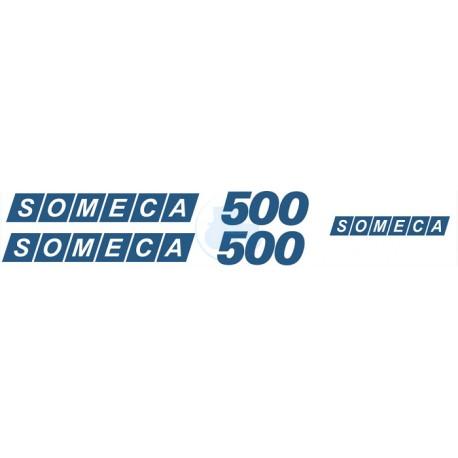 JEU AUTOCOLLANTS COTÉS CAPOT SOMECA FIAT 500