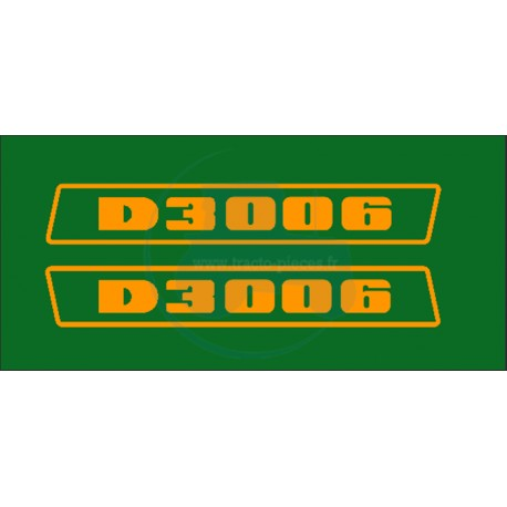 JEU AUTOCOLLANTS DEUTZ D 3006
