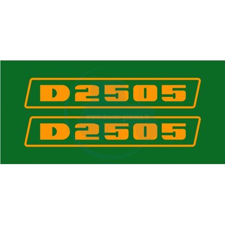 JEU AUTOCOLLANTS DEUTZ D 2505