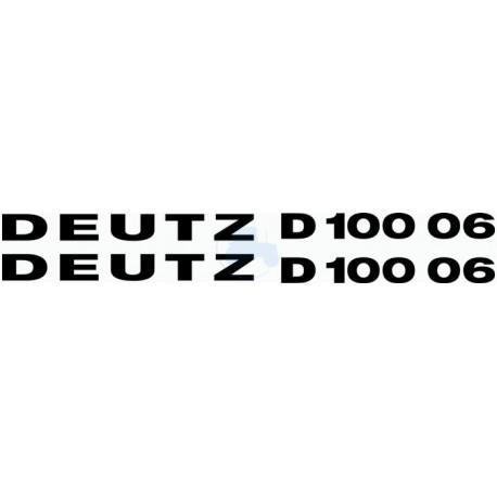 JEU AUTOCOLLANTS DEUTZ D 10006