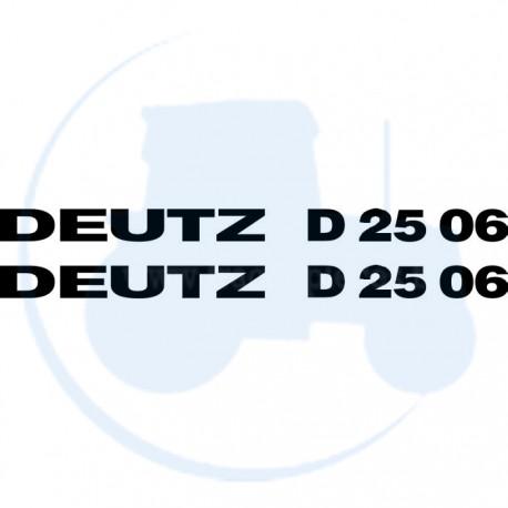 JEU AUTOCOLLANTS DEUTZ D 2506