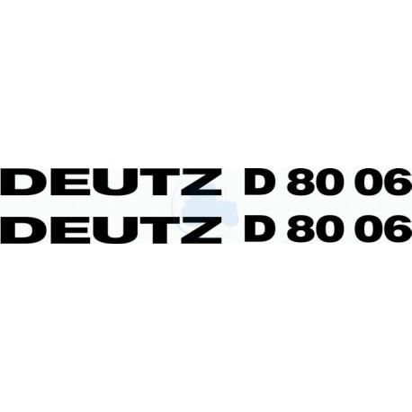 JEU AUTOCOLLANTS DEUTZ D 6806