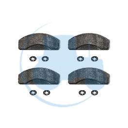 KIT 4 PLAQUETTES AVEC CLIPS pour tracteurs MASSEY-FERGUSON