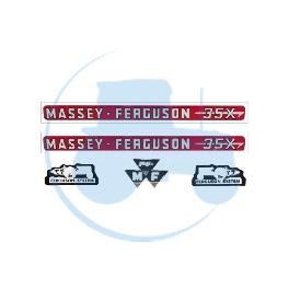 JEU AUTOCOLLANTS pour tracteurs MASSEY-FERGUSON