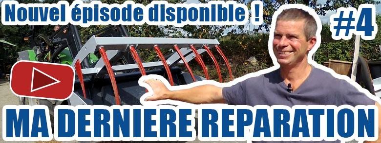 Annonce série ma dernière réparation sur youtube